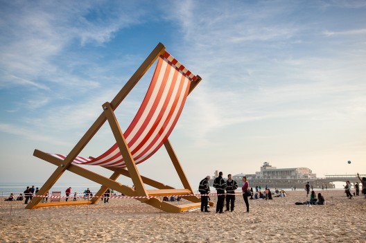 Giant deckchair by Mark J P